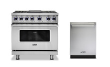 Viking 7 Series 36  Dual Fuel Range   FREE Dishwasher  VDR7366BSS