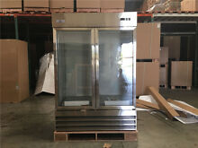 NSF Flower Cooler Beverage Refrigerator Stainless Steel Two Glass Door CFD2G
