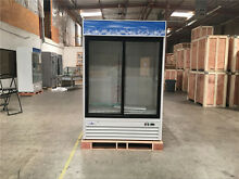 NSF REFRIGERATOR GLASS TWO DOOR FREEZER BEER COOLER