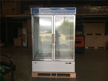 NSF REFRIGERATOR GLASS TWO DOOR FREEZER BEER COOLER G1 2BM2F wing