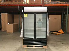 NSF Beverage Cooler Two Glass Two Door Refrigerator GN2
