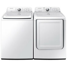 Samsung Top Load 4 0 Washer   7 2 Gas Dryer Set WA40J3000AW DV40J3000GW