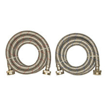 2 Pack 6  1500 PSI Washing Machine Connectors Home Appliance Washer Water Hose
