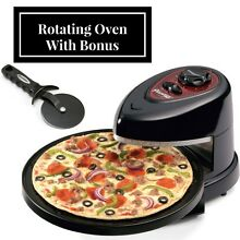 Oven Pizzazz Plus Rotating Presto Pizza Kitchen Baking Countertop Cooker   Bonus