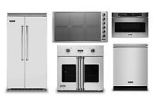 Viking 42  Refrigerator  36  Induction Cooktop  Oven  Microwave  Dishwasher