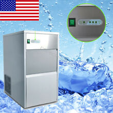 Automatic Ice Maker Stainless Steel Ice Cube Machine Auto Shut Off 55 lb 25kg