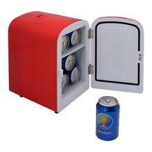 Portable Mini Fridge Cooler and Warmer Auto Car Boat Home Office AC DC RED