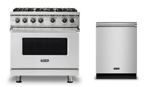 Viking 36  Dual Fuel Range   FREE Dishwasher    New Model  VDR5366BSS
