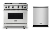 Viking 36  Dual Fuel Range   FREE Dishwasher  New Model  VDR5364GSS