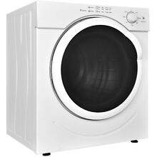 27 lbs 3 21 Cu  Ft  Home Bathroom Electric Tumble Compact Clothes Dryer White US