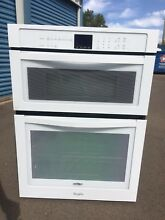 Whirlpool 30  oven microwave combination  white