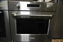 Monogram 30  Stainless Steel Single Electric True Convection Wall Oven ZET1PHSS