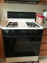 GE Gas Range JGBP24BEA1CT Extra Large Self Cleaning Oven  Almond  Good used