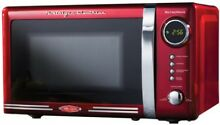 Mid Century Style Microwave Oven Red Countertop Retro 1950 s Look  7 Cu Ft 700W