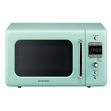 Daewoo KOR 7LREM Retro Microwave Oven 0 7 cu  ft  700W Mint Green Ovens Major
