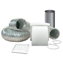 Dryer Vent Kit Wide Mouth Exhaust Hood UV Resistant Grow Room Ventilation Parts