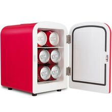 Home Portable 4L Mini Fridge Cooler Warmer Auto Car Boat Home Office Red US