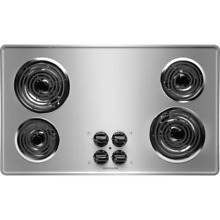 Frigidaire FFEC3605L Stainless Steel 36  Electric Cooktop with Ready Select