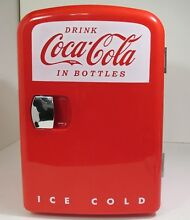Coca Cola Retro Mini Fridge Cooler Warmer Koolatron Personal Fridge Model KWC 4