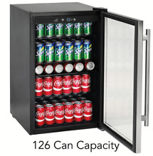Beverage Center Refrigerator Under Counter 126 Can Capacity 4 4 cu  ft Stainless