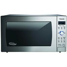 Panasonic NN SD975S Countertop Built In Cyclonic Wave Microwave with Inverter Te