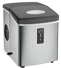 Igloo Counter Top Ice Maker with Over Sized Ice Bucket  Stainless Steel  Openbox