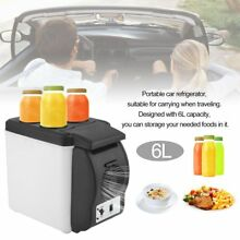 6L Portable Car Refrigerator Drink Cooler Fridge Food Warmer Camping Picnic C