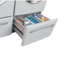 Frigidaire Affinity Series Washers CFPWD15A Pedestal Drawer Classic Silver