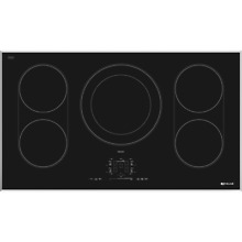 Jenn Air JIC4536XS Induction Cooktop 36  Black Digital Display Control 5 Element