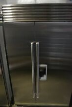 SubZero 48  Stainless Steel Built In Side by Side Refrigerator BI48SDSPH