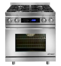 Dacor DR30DIH NG Stainless Steel Gas Dual Fuel Range 30in   New Damaged