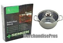 SENKEN PORTABLE INDUCTION COOKTOP   BERNDES 9 1 QT STOCK POT BUNDLE  NEW