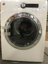 GE DCVH480EKWW 4cu ft Electric Dryer White Electronic Pushbutton  w  LED