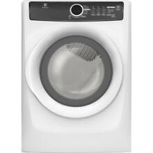 Electrolux EFMG417SIW 27 Inch 8 0 cu  ft  Gas Dryer with 7 Dry Cycles White