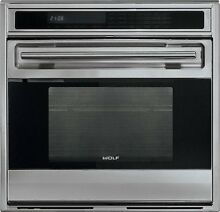 WOLF SO30F S 30  Built In L Series Oven Framed Door in Classic Stainless Steel