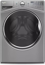 Whirlpool WFW92HEFC 27  4 5 cu  ft  Front Load Washer Chrome Shadow Steam Clean