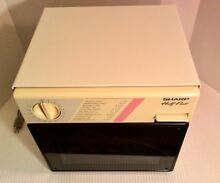 Sharp Compact Microwave Oven Half Pint 1986 R 4060W for Dorm Camper RV Boat EUC