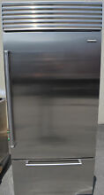 Sub Zero 36  Built In Stainless Steel Bottom Freezer Refrigerator BI36USPH