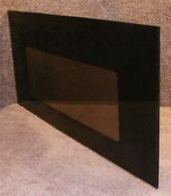 282624 Whirlpool Black Wall Oven Door Glass