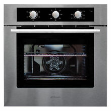 NEW 60cm STAINLESS STEEL FAN FORCED ELECTRIC WALL OVEN