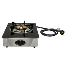 12 x 14  Single Propane Gas Stove 1 Burner Tempered Glass Cooktop Auto Ignition