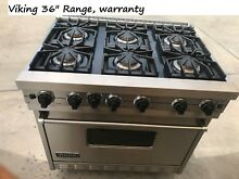 Viking 36  Stainless Range  6 sealed burners