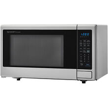 Sharp ZSMC1842CS 1 8 Cu Ft Microwave  Stainless Steel