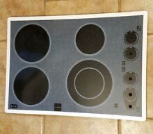 Genuine OEM General Electric GE Cooktop GLASS COOKTOP Part   WB61K5004 WHITE