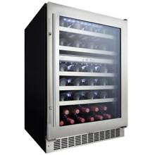 Danby DWC053D1 24 Inch Wide 51 Bottle Capacity Built In Wine Cooler with Dual Te
