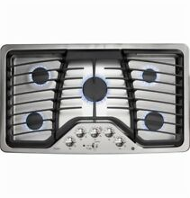 GE Profile Series PGP976SETSS Stainless Steel Series 36  Gas Cooktop