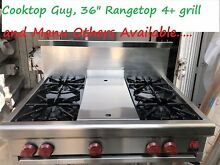 Wolf 36  Pro Stainless Rangetop  4  grill   10  back splash or isl trim   in LA