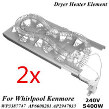 2x Dryer Heating Element For Whirlpool Kenmore 3387747 WP3387747 AP6008281 US