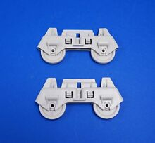 2 Pack Whirlpool WP8268645 Dishwasher Lower Rack Wheels NEW OEM  Two Included