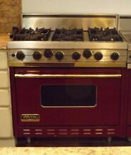 Viking Professional 6 Burner Convection Oven Range 36  15000 BTU Dual Fuel